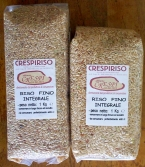 Brown Rice packages 1kg - 2.2lb and transparent and vacuum packed